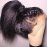 200% Density Kinky Straight Lace Wigs