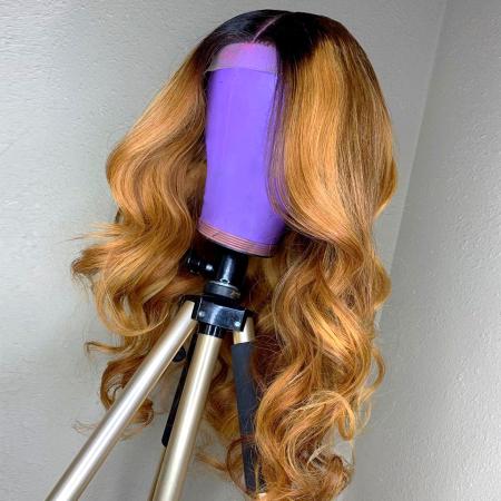 200% Density #1B/27 Color Loose Wave Lace Wigs