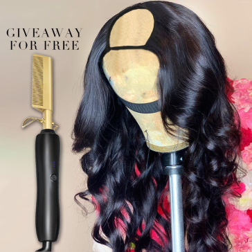 U Part Wig Body Wave Human Hair Wigs