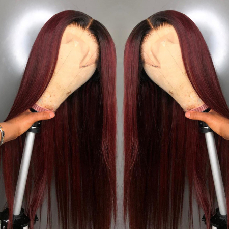 200% Density 1b/99j Straight Lace Wigs
